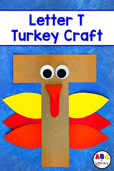 Letter T Turkey Craft, Letter T Craft, Turkey Craft, Letter of the Week Craft, Letter T Activity, Alphabet Activity, Letter Actvity