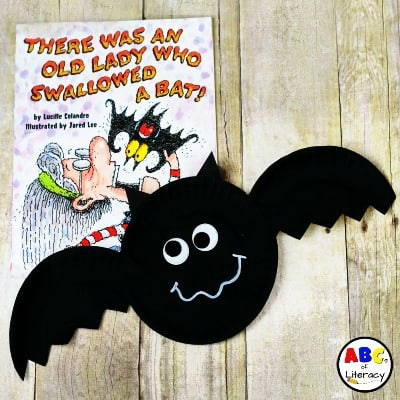 There Was An Old Lady Who Swallowed A Bat Inspired Paper Plate Bat