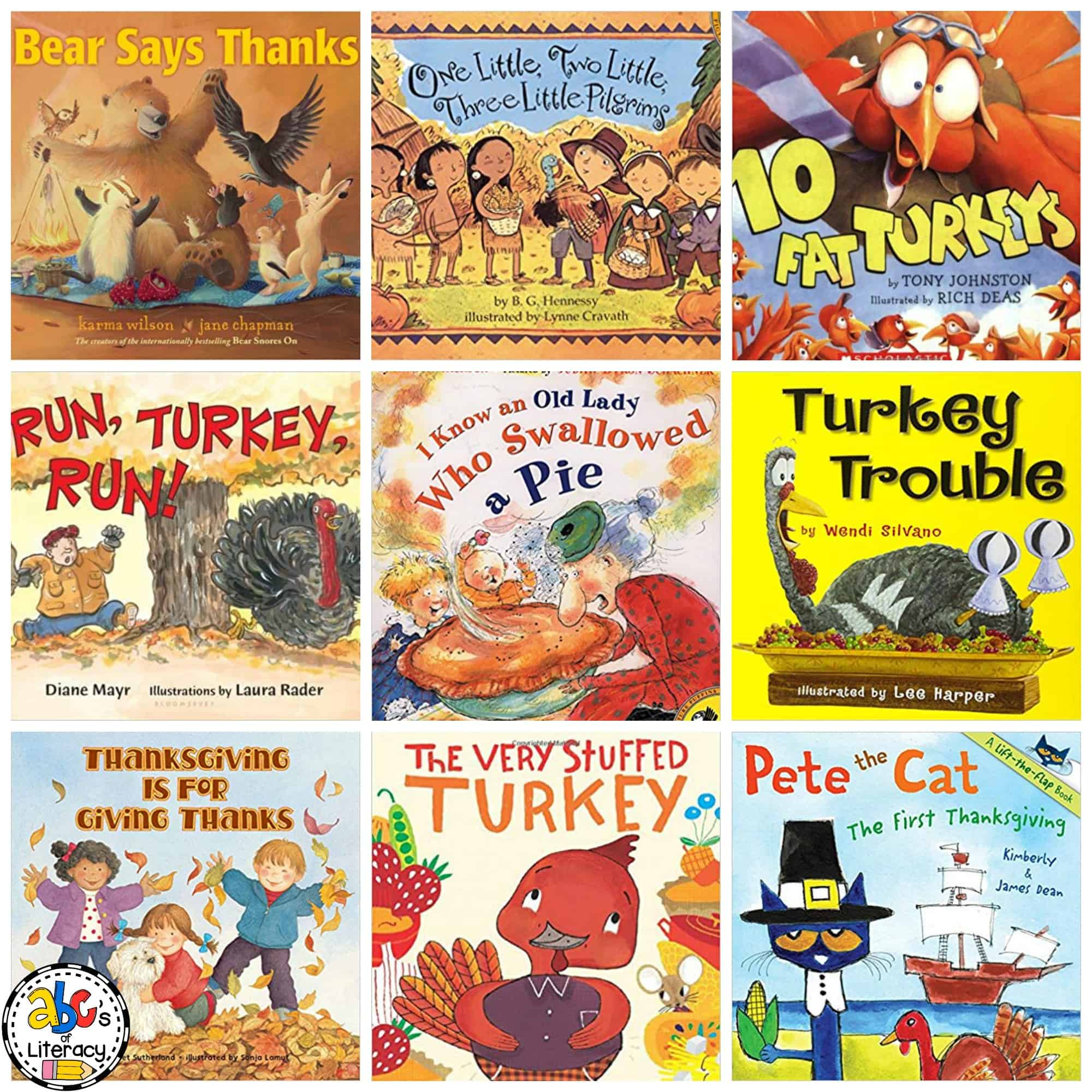 These 10 Thanksgiving Picture Books for young children are all about being thankful, turkeys, family dinner, and the first Thanksgiving.