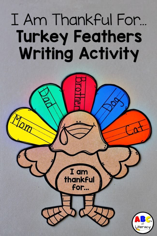 Turkey Feathers Writing Activity, Thanksgiving Writing Activity, Turkey Writing Activity, Writing, Writing Activty