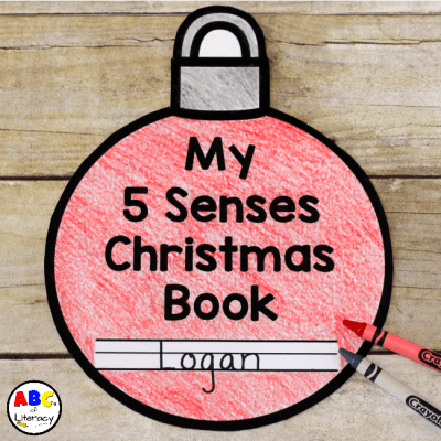 My 5 Senses Christmas Book for Kids (Free Printable)