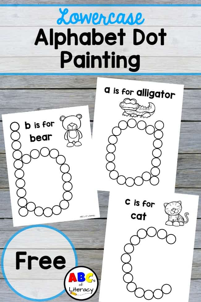 Alphabet Dot Painting, Lowercase Alphabet Dot Painting, Dot Painting, Do-A-Dot Painting, Letter Painting, Learning Letters, Learning Alphabet, Alphabet, Hands-On Learning