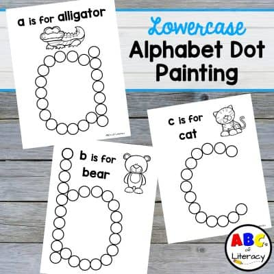 Lowercase Alphabet Dot Painting (Free Printables)