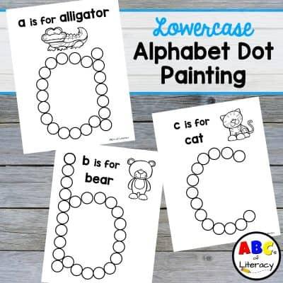 Lowercase Alphabet Dot Painting (Free Printables)