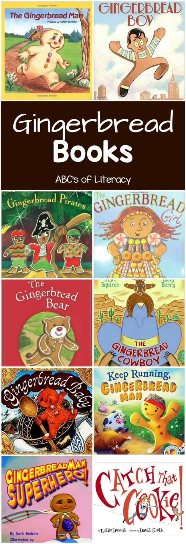Gingerbread Man Books, Gingerbread Books, Books for Kids, Children's Books, Christmas Books, Christmas Books for Kids, Holiday Books for Kids