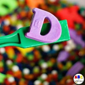 Magnetic Letter Sensory Bin For Learning The Alphabet