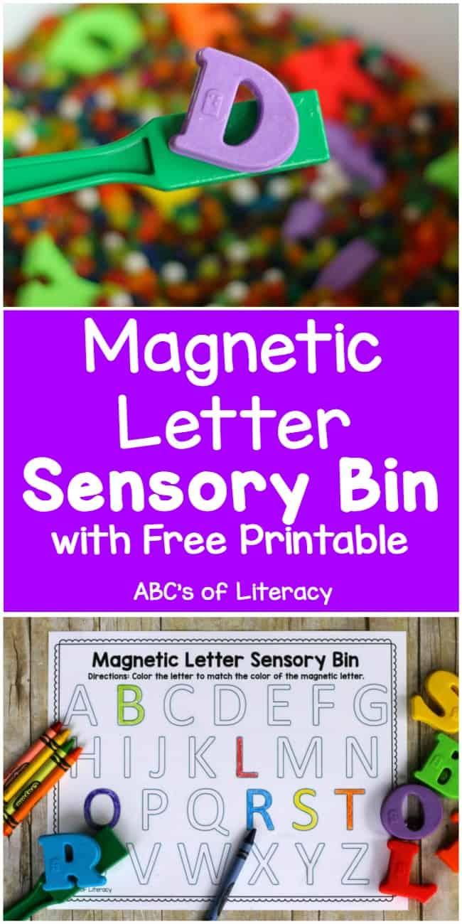 Magnetic Letter Sensory Bin, Alphabet Activity, Letter Activity, Sensory Activity, Hands-On Learning, Learning the Alphabet