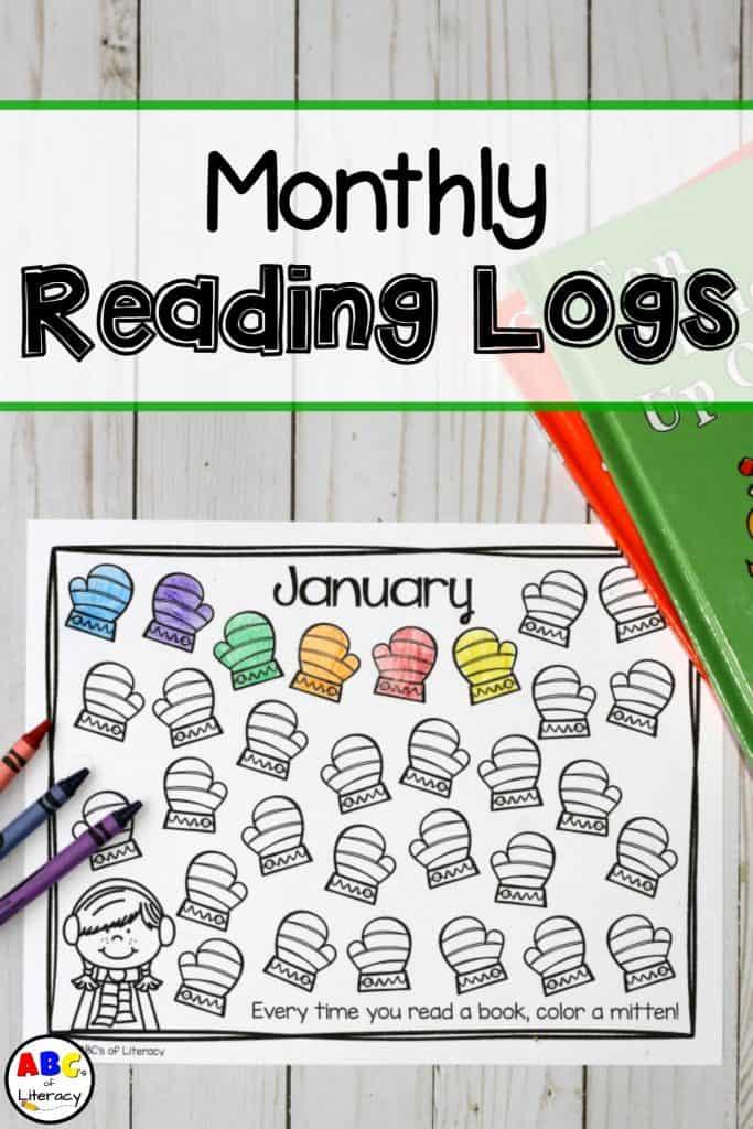 Monthly Reading Logs, Reading Logs, Preschool Homework, Kindergarten Homework, Reading at Home