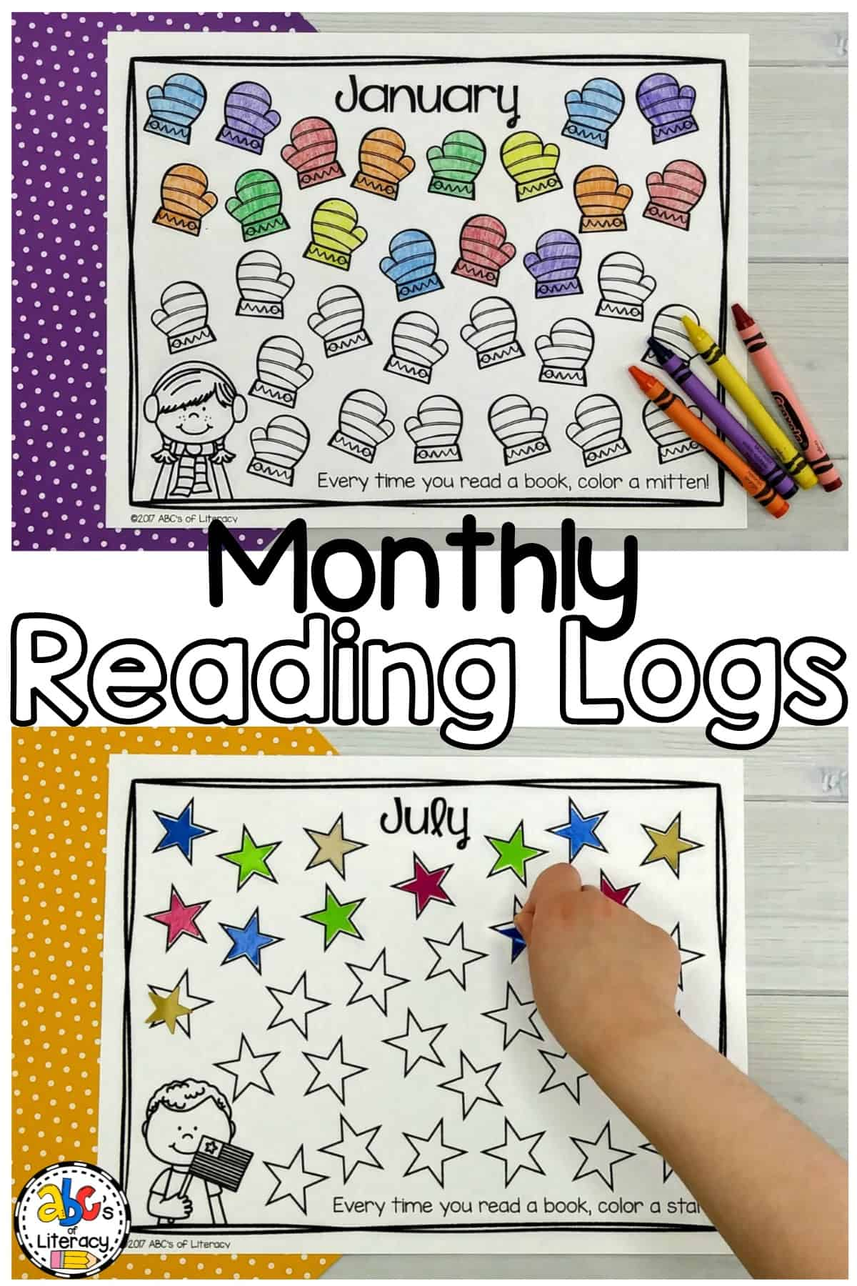 These Monthly Reading Logs will making reading at home fun for your students as they take charge of tracking the number of books that they read every month.