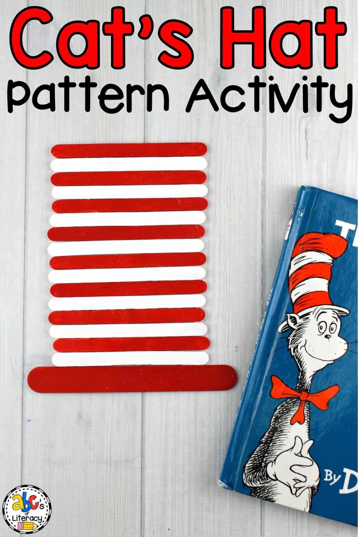 The Cat In The Hat, The Cat's Hat Pattern Activity, Pattern Activity, The Cat In The Hat Pattern Activity, Math Center, Preschool Center