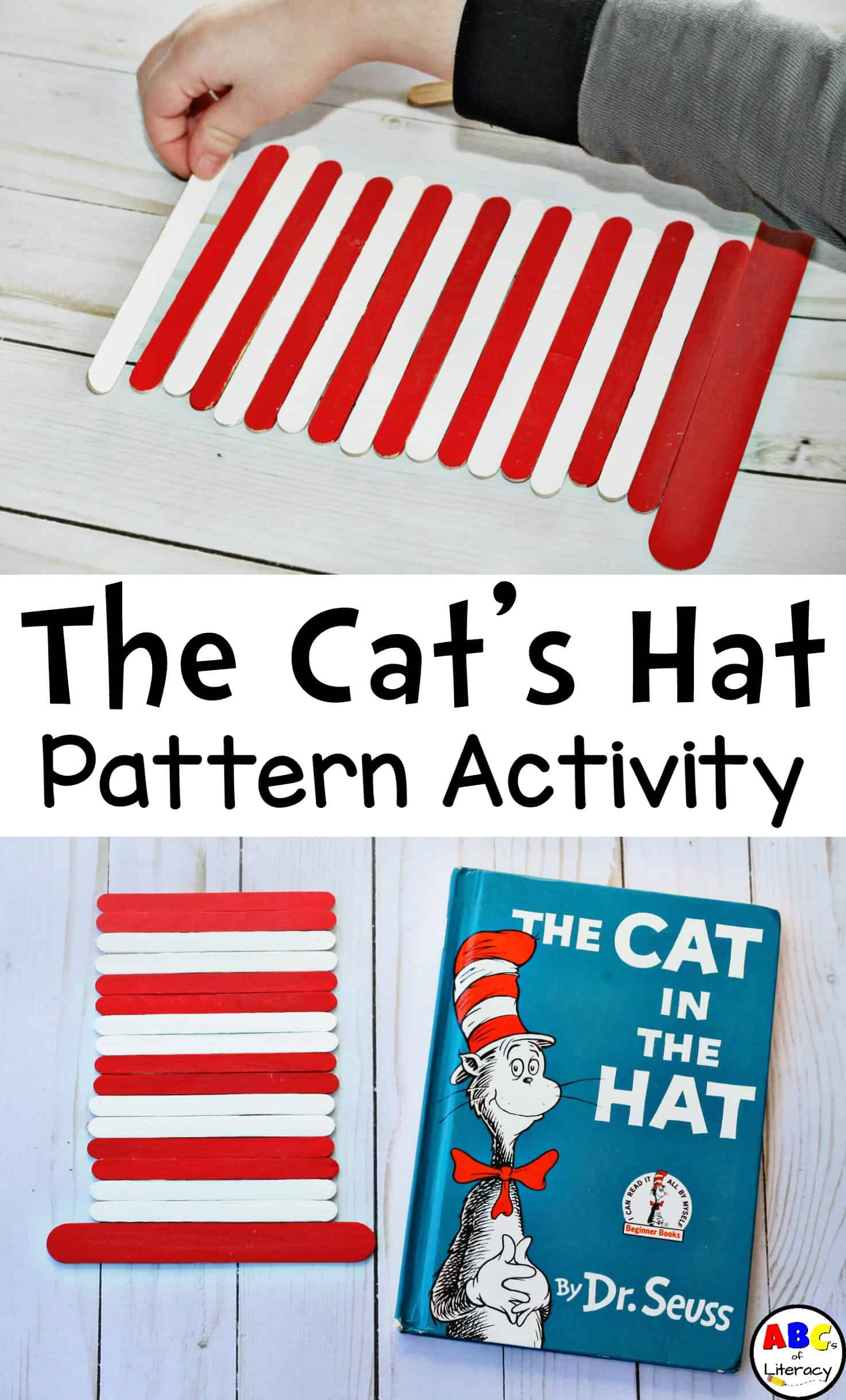 The Cat In The Hat Pattern Activity, The Cat's Hat Pattern Activity, Making Patterns, Preschool Activity, Preschool Center
