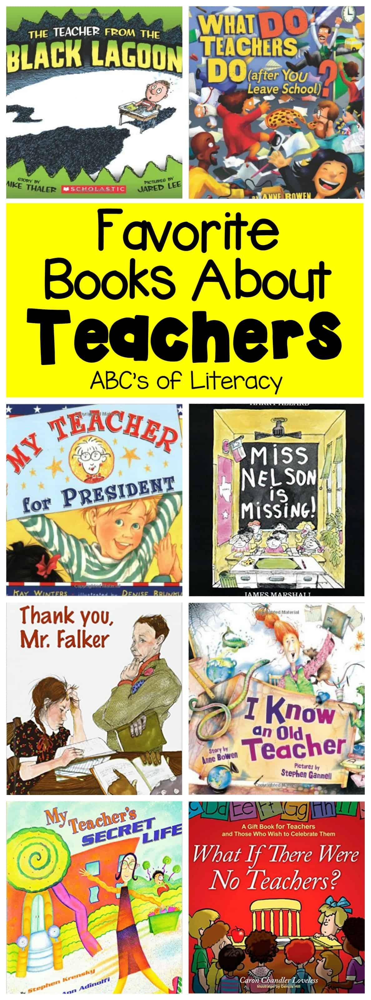 Books about teachers, read aloud books about teachers, pictures books about teachers, teacher books