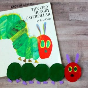 How To Make A Book Inspired Potato Stamped Caterpillar Craft