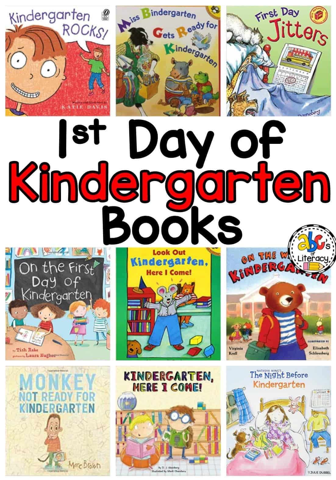 Books About Starting Kindergarten, 1st Day of Kindergarten Books, Books About Beginning Kindergarten, Books About School, School Books, Books About Starting School,