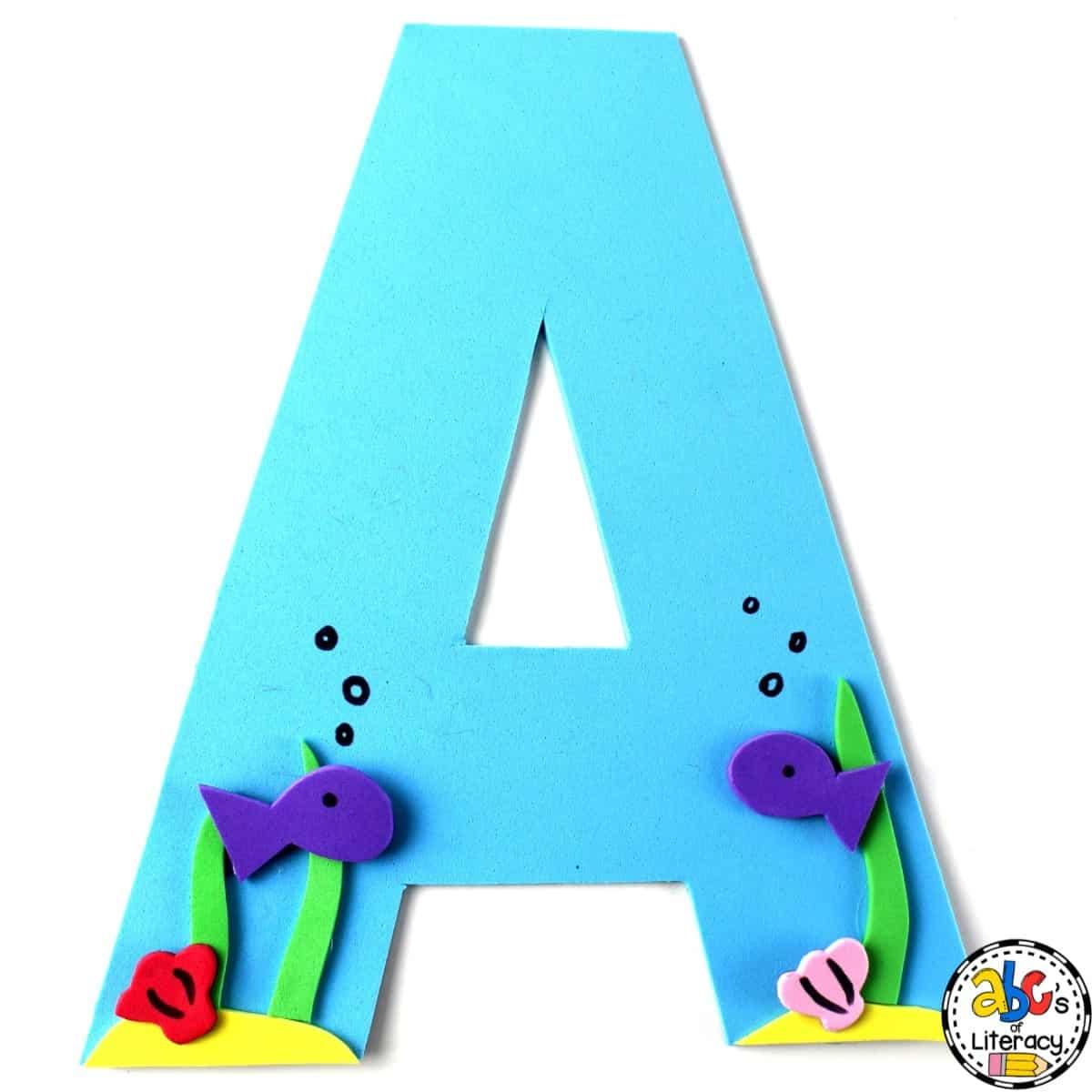 how to make a letter a aquarium craft