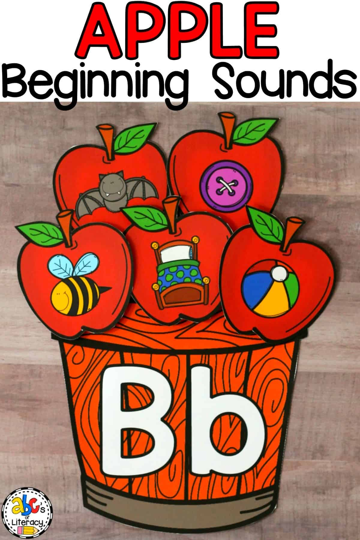 apple beginning sounds, beginning sounds, apple activities, beginning sounds sort, beginning sounds activity, morning tubs