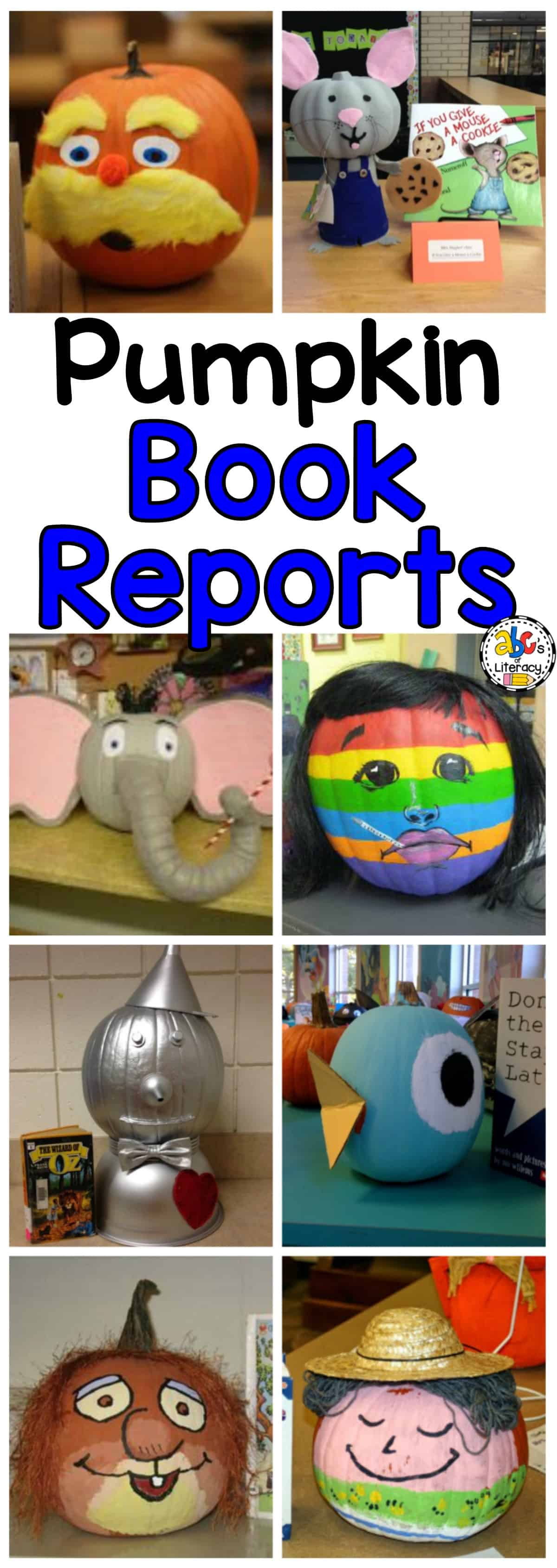 Pumpkin Book Report Ideas, Pumpkin Book Reports, Pumpkin Book Character Reports