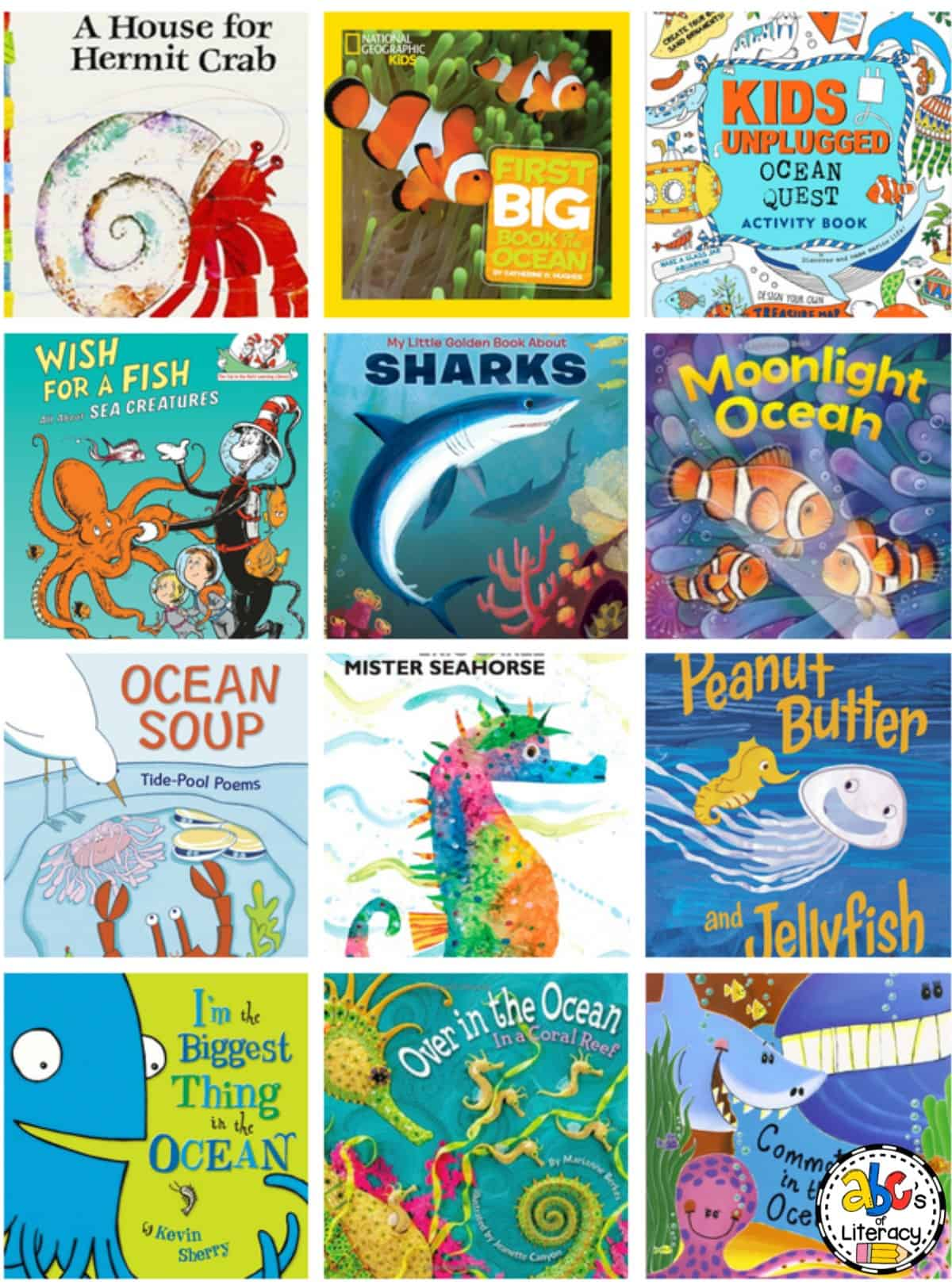 Ocean Picture Books, Ocean Books, Ocean Unit