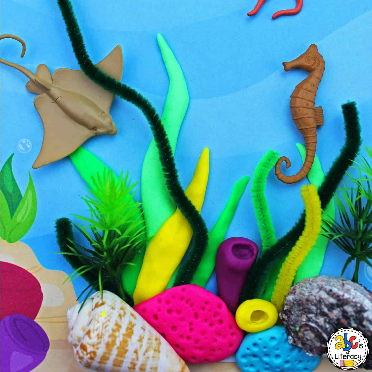 Ocean Play Dough Mat