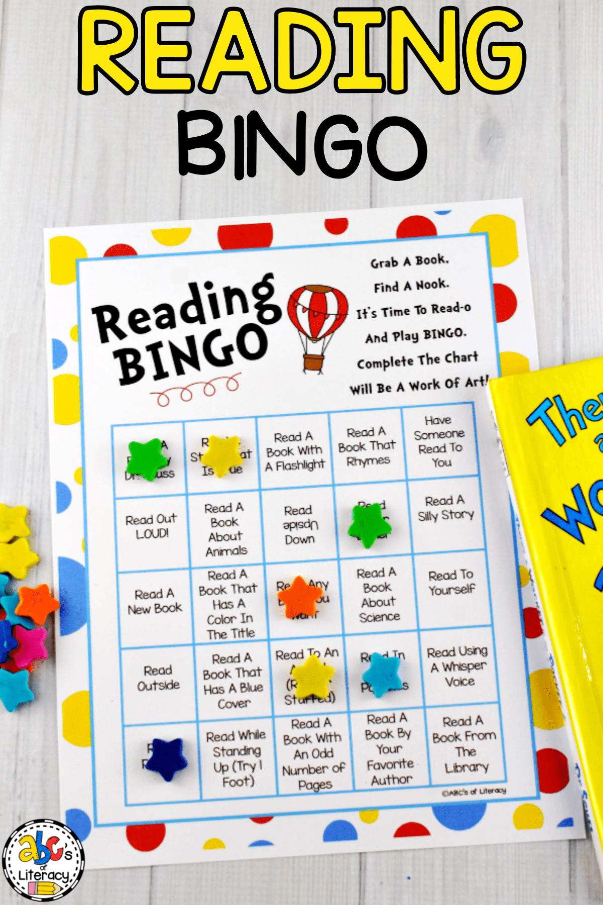 Reading Bingo, Reading Month, Read Across America, Dr. Seuss Birthday, March 2nd, Dr. Seuss Books