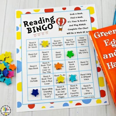 Reading Bingo: Printable Activity for Reading Month