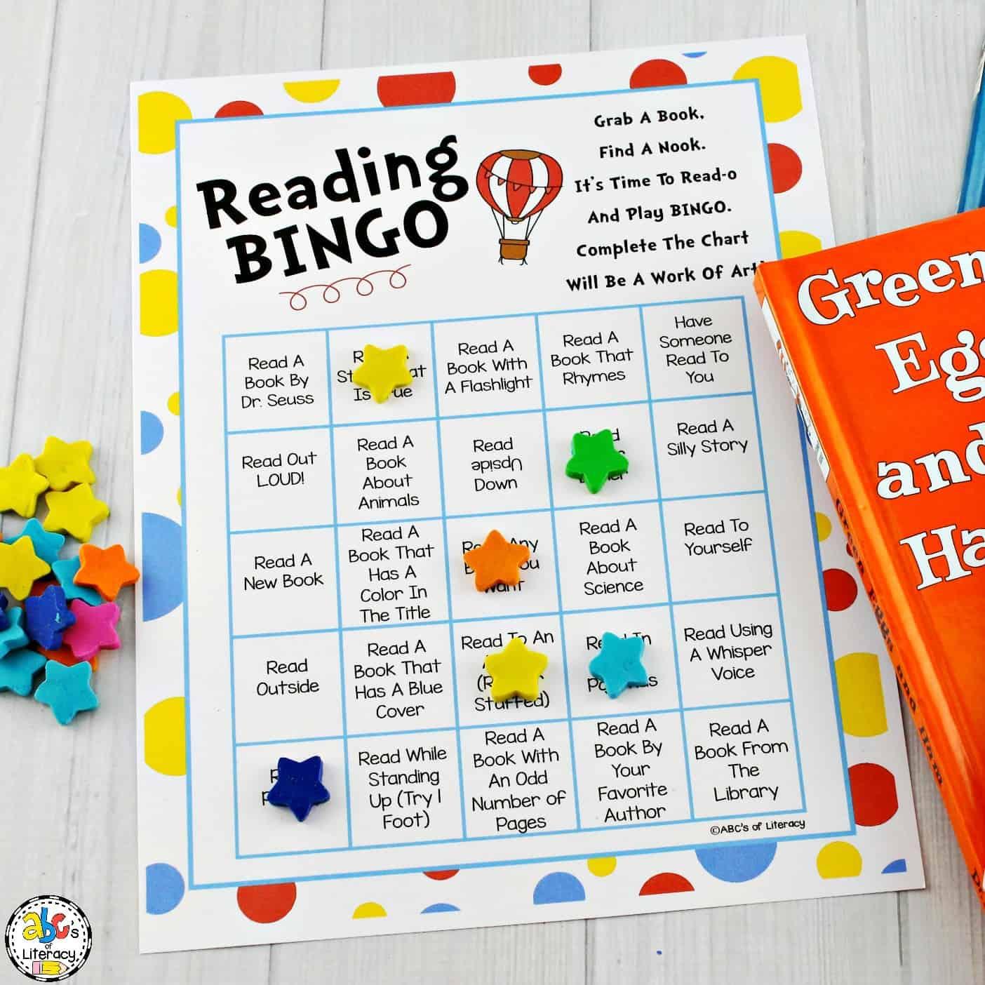 graphic relating to Abc Bingo Printable named Rejoice Reading through Thirty day period with this entertaining Examining Bingo!