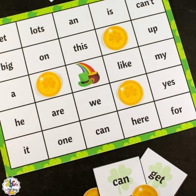 St. Patrick's Day Sight Word Bingo Game