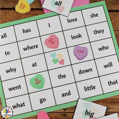 Valentine's Day Sight Word Bingo Game
