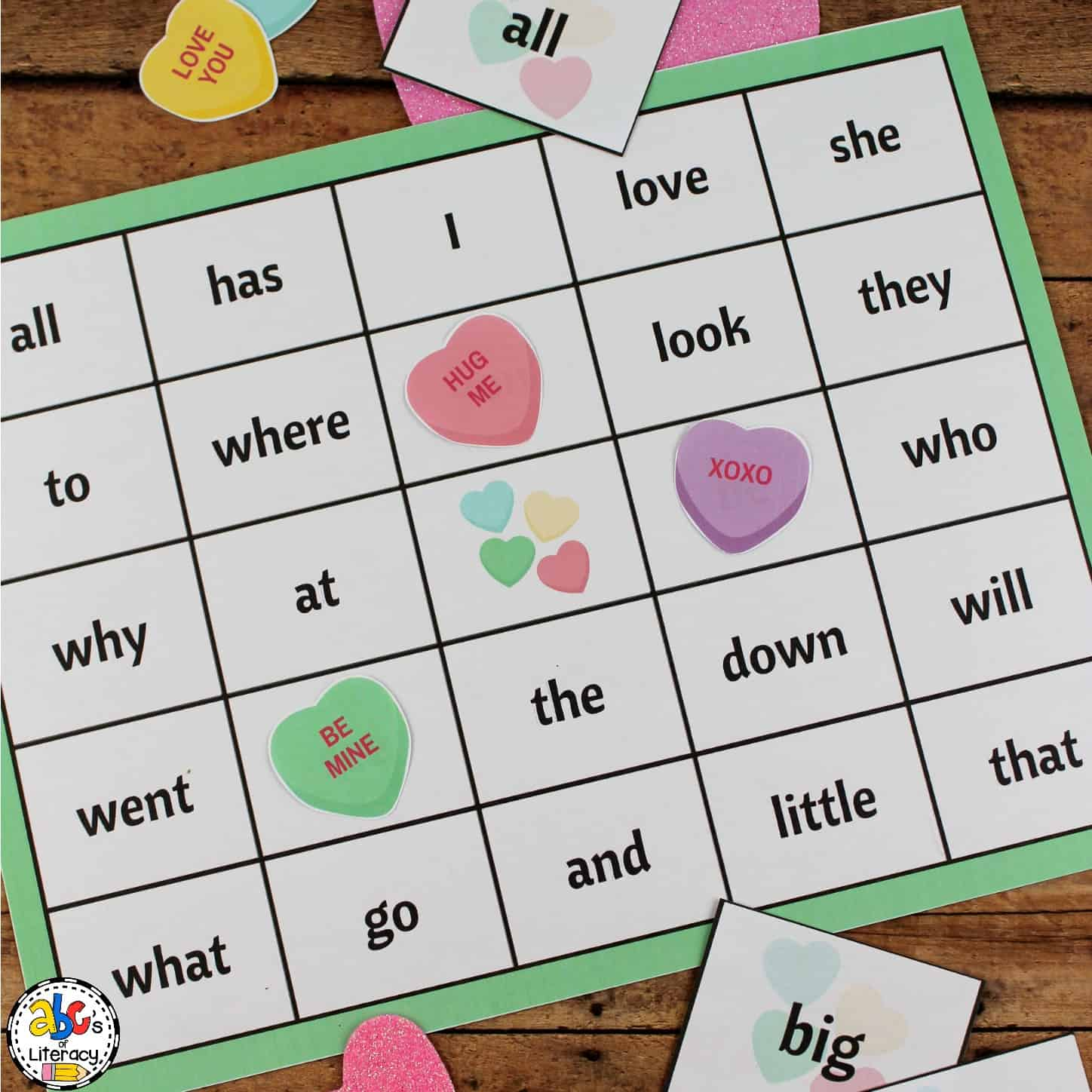 picture about Valentines Bingo Cards Free Printable identified as Free of charge Printable Valentines Working day Sight Phrase Bingo Video game