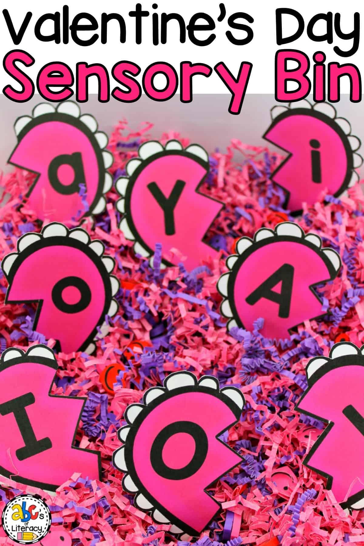 Heart Letter Match Sensory Bin, Valentine's Day Sensory Bin, Valentine's Day Letter Match Puzzles, Heart Letter Match Puzzles