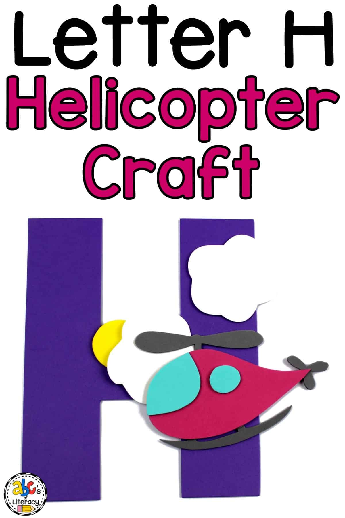 Letter H Craft, Letter H Helicopter Craft, Helicopter Craft, Letter of the Week Craft