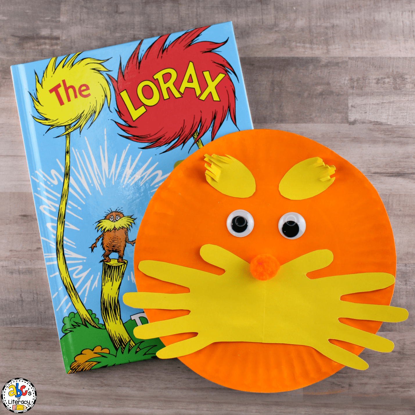 This is an image of Printable Lorax Mustache and Eyebrows in the lorax's