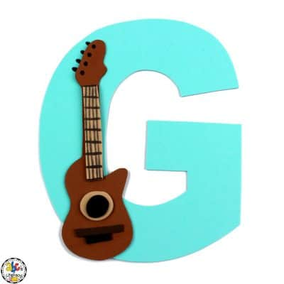 Letter G Guitar Craft