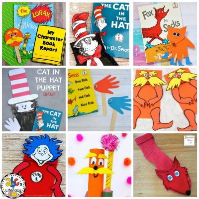 Dr. Seuss Inspired Puppet Crafts