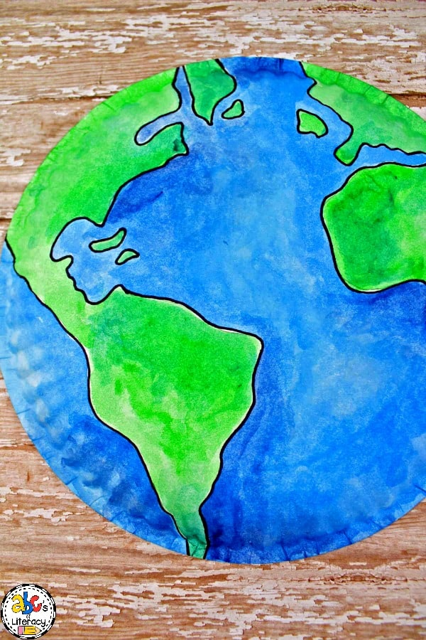 Paper Plate Earth Craft, Earth Craft, Paper Plate Craft, Earth Day Craft, Earth Day