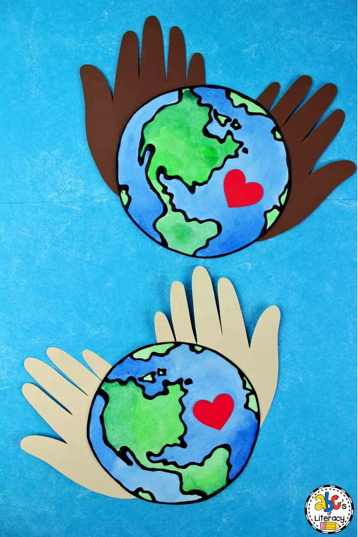 Earth Day, Earth Day Craft, Earth Day Activity, Earth Day Hand Print Craft, Hand Print Craft, Celebrate Earth Day