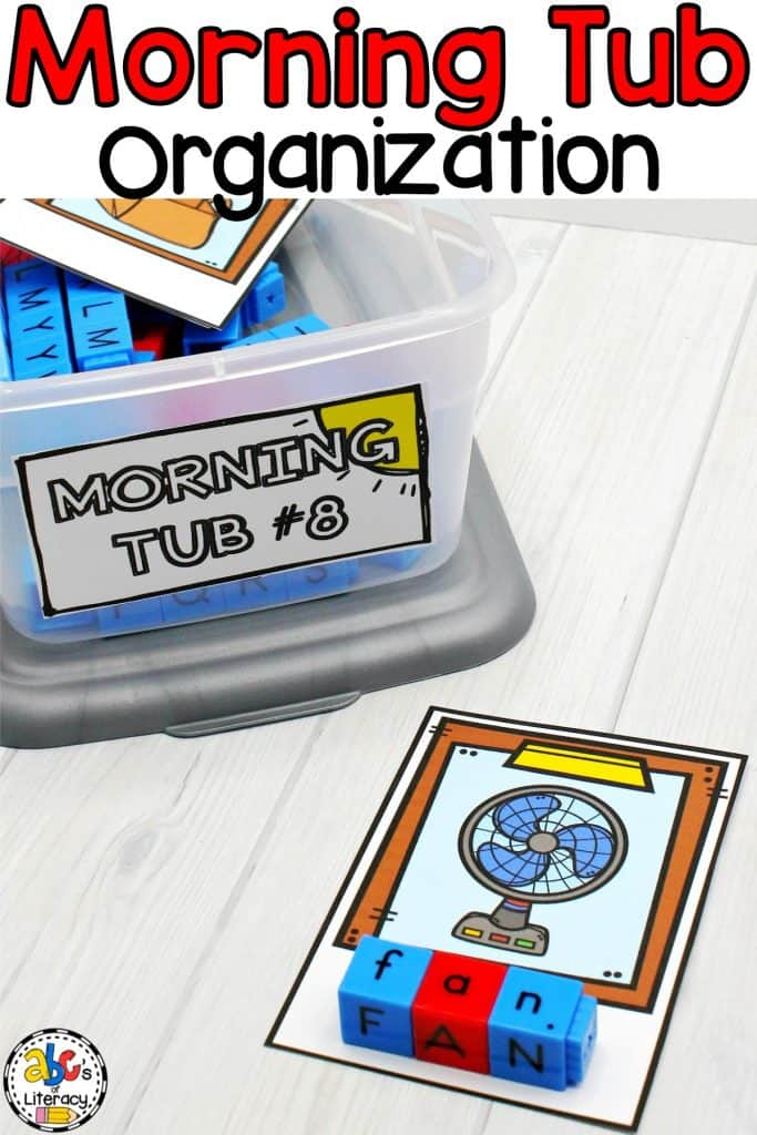 Morning Tubs, Morning Tub Organization, Morning Tubs For The Year, Morning Tub Set-Up