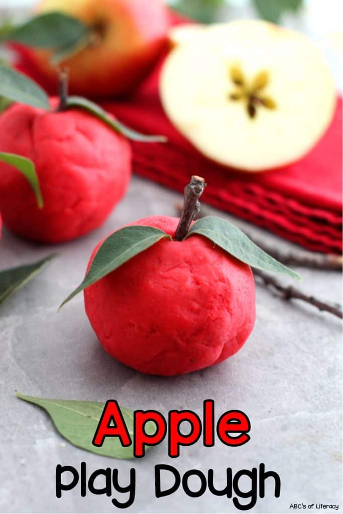 Apple Scented Play Dough Recipe, Play Dough Recipe, Apply Play Dough, Apple Play Dough Recipe, Apple Scented Play Dough, Sensory Play Recipe, Sensory Play