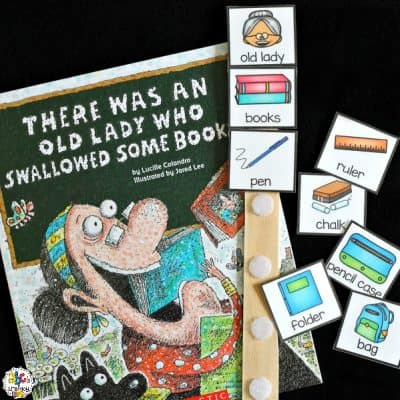 There Was An Old Lady Who Swallowed Some Books Sequence Stick