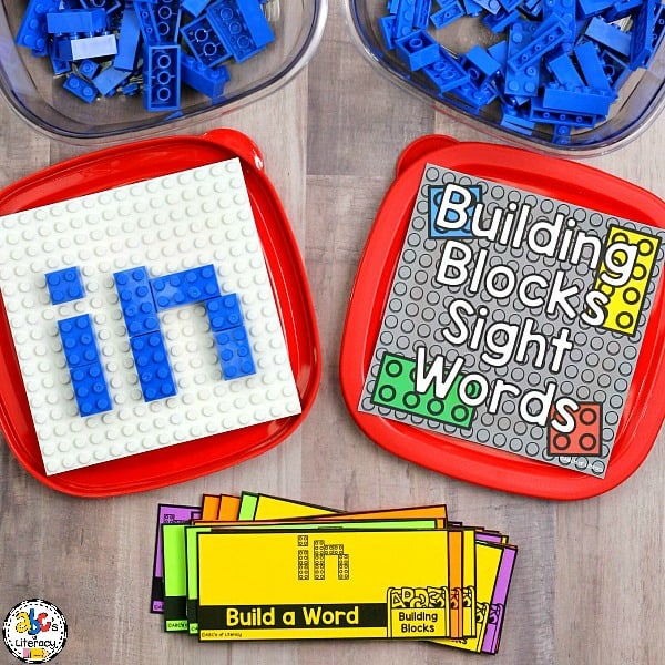 This Building Blocks Sight Word Box is a hands-on way for your students to practice reading and spelling their sight words.