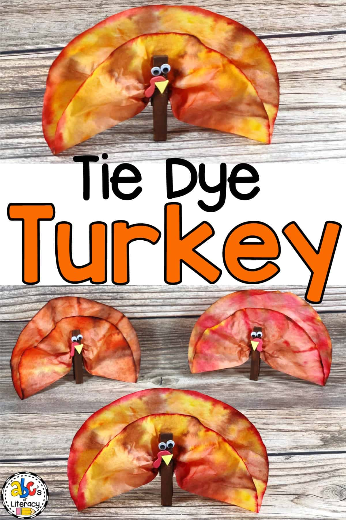 This Tie Dye Coffee Filter Turkey Craft is a fun, process art activity to do in a classroom or homeschool. This Turkey craft is easy for all ages to create.