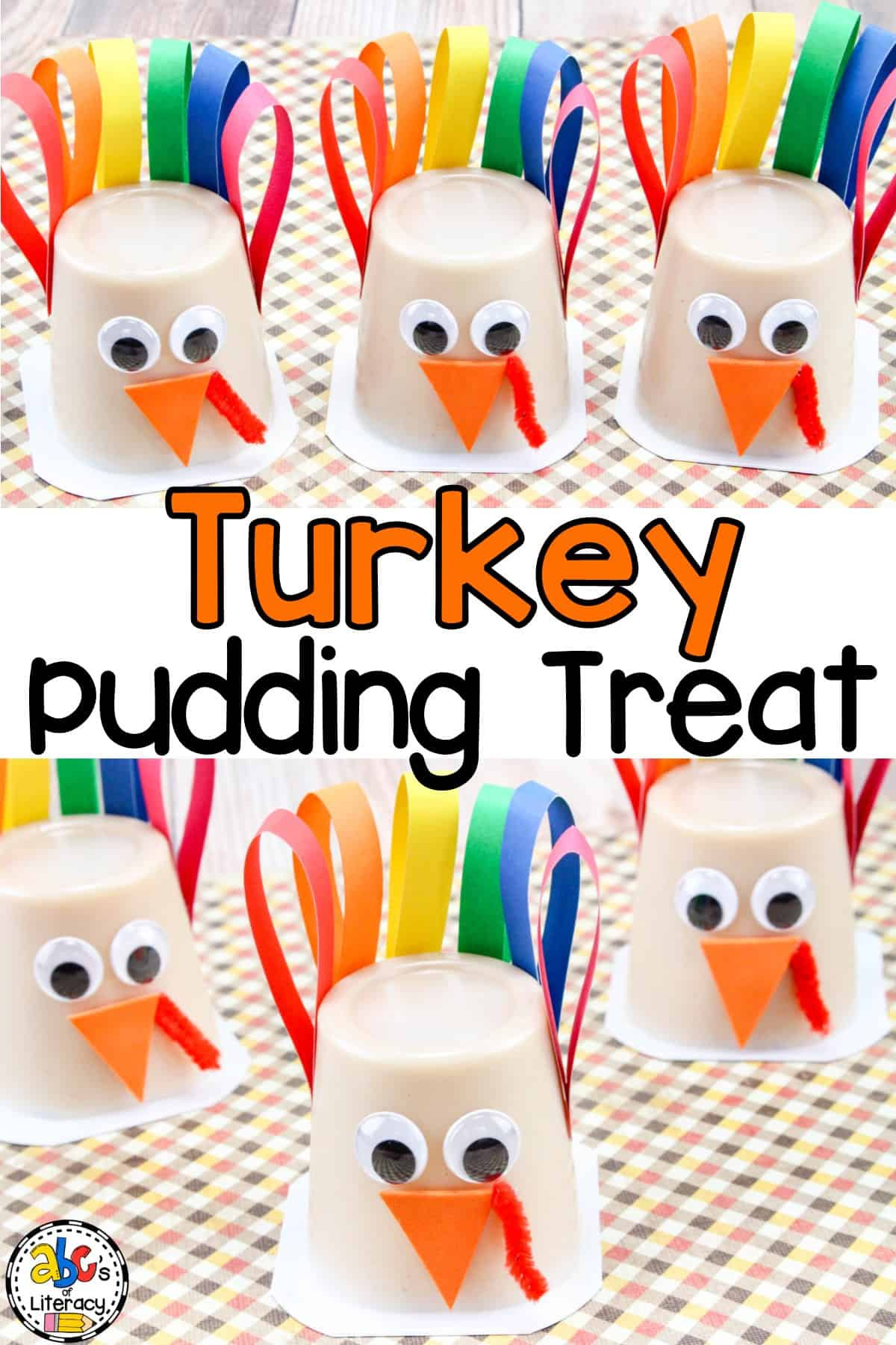 Are you looking for a fun snacktivity for your kids to do for Thanksgiving? These Turkey Pudding Cup Treats are a simple craft and snack in one.