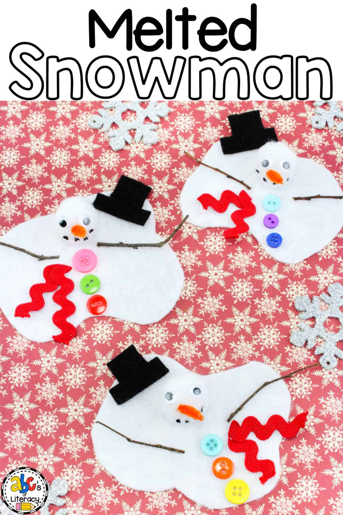 melted snowman craft activity for winter fun