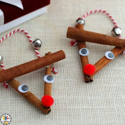 How To Make A Cinnamon Stick Rudolph Ornament
