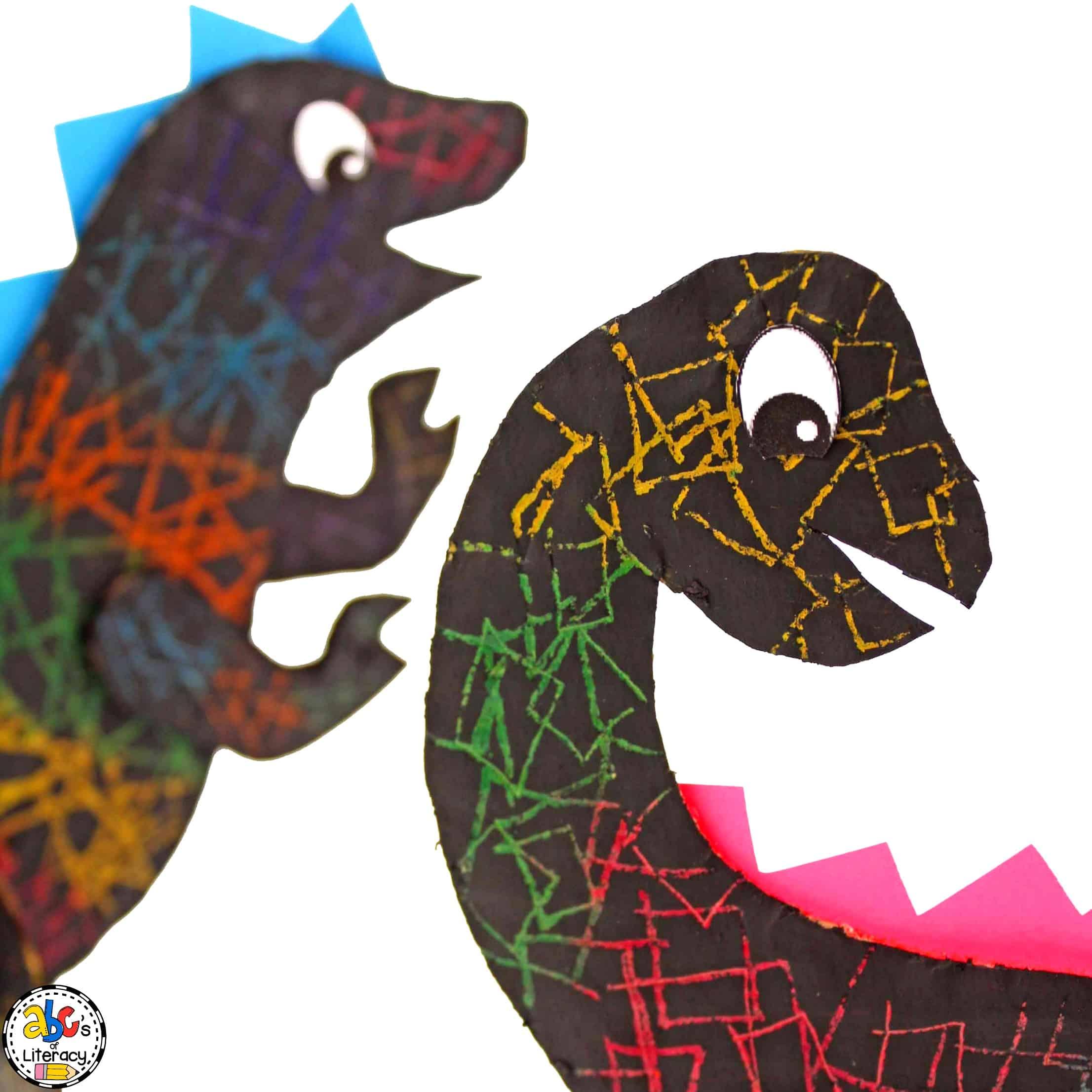 dinosaur scratch art project
