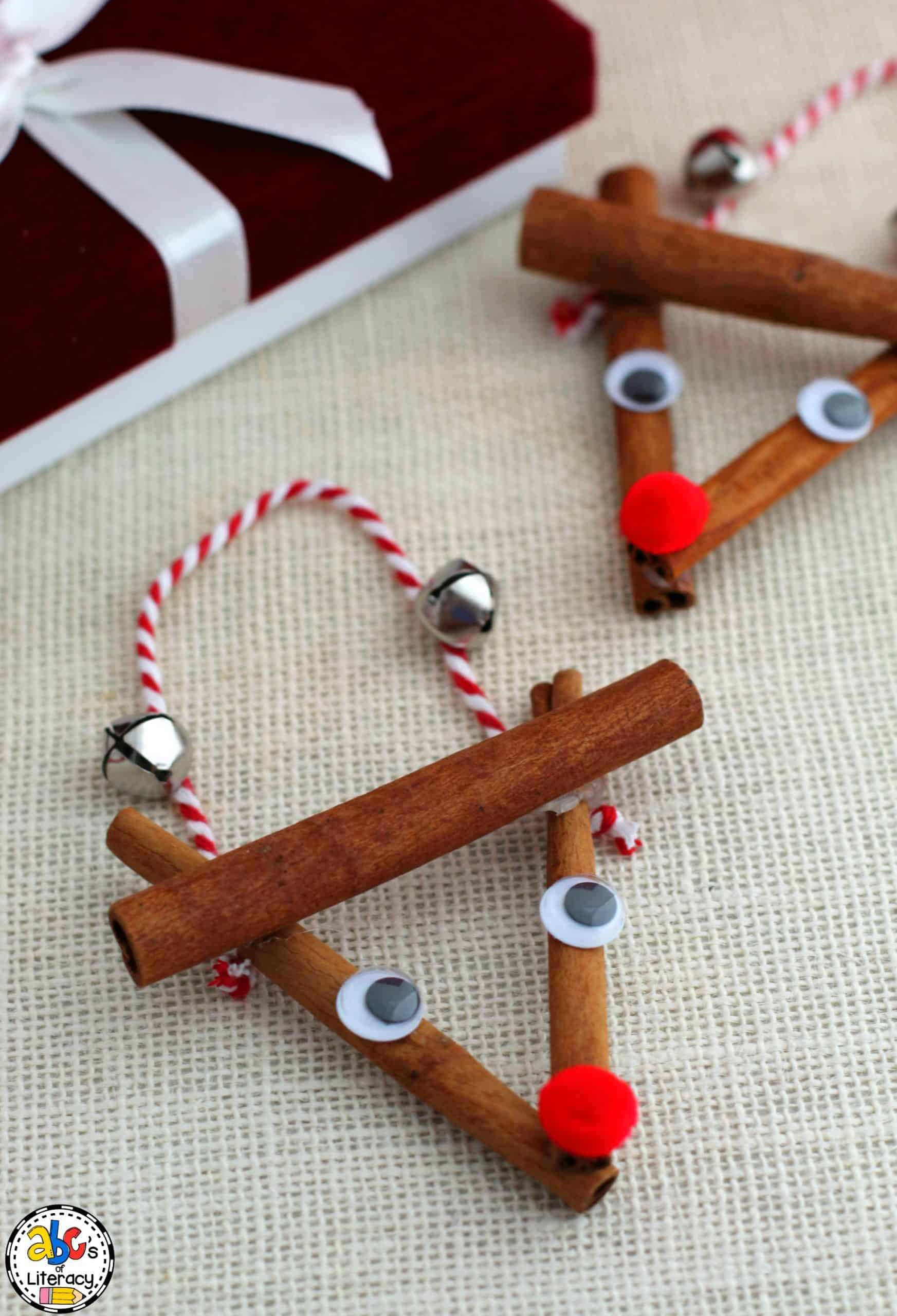 Cinnamon Stick Rudolph Ornament