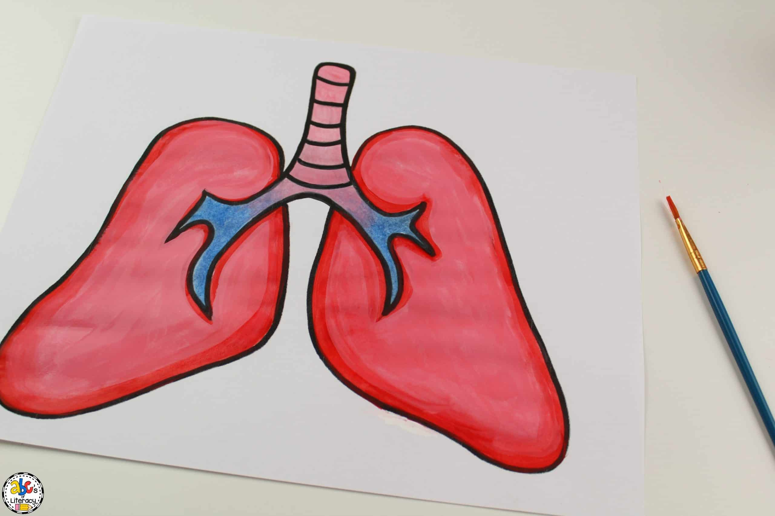 painting lungs