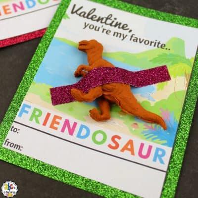Printable Dinosaur Valentine's Day Cards For Kids
