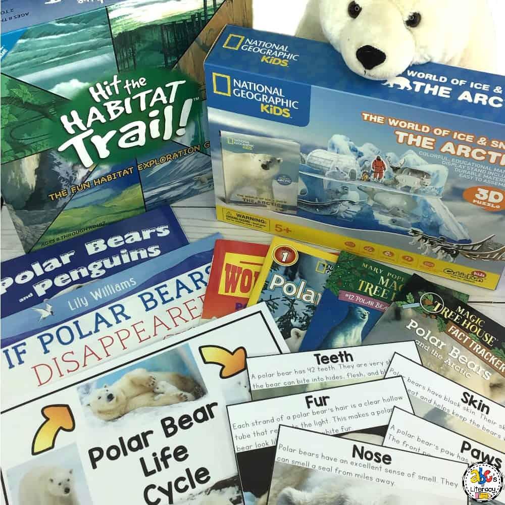 Polar Bear Morning Basket, January Morning Basket, Morning Basket, Homeschool Morning Basket, Polar Bears, Arctic Morning Baskets