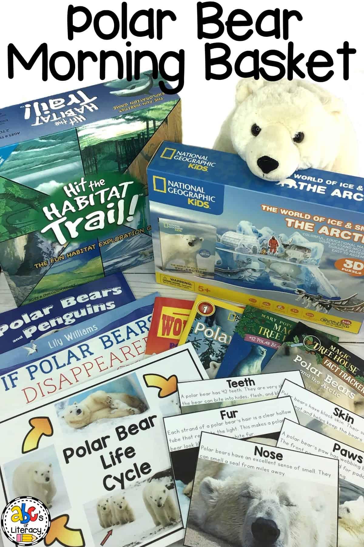 Polar Bear Morning Basket, January Morning Basket, Morning Basket